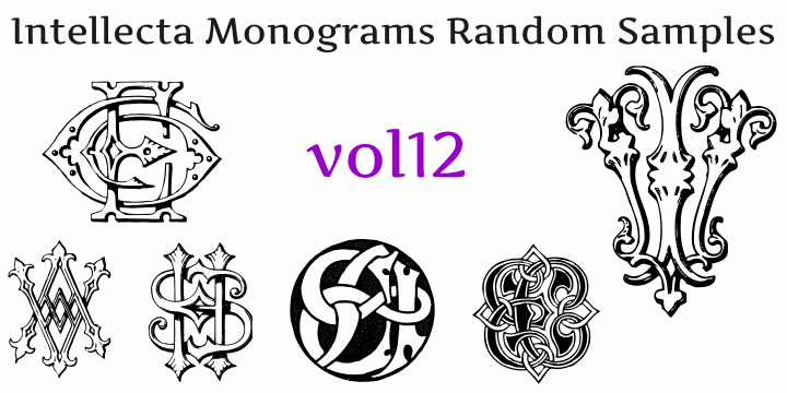 Image for Intellecta Monograms Random Twelve font