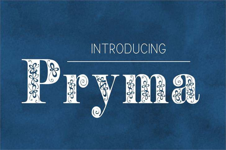 Image for Pryma font