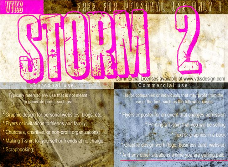 Image for vtks storm 2 font