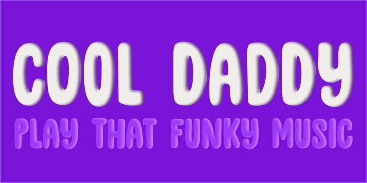 Image for DK Cool Daddy Outline font