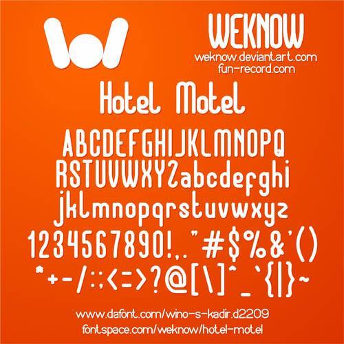 Image for Hotel Motel font