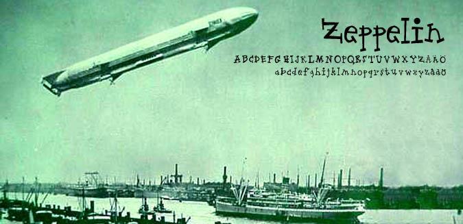 Zeppelin font by Fontomen