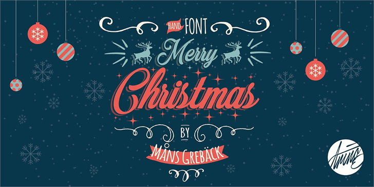 merry christmas font by m u00e5ns greb u00e4ck