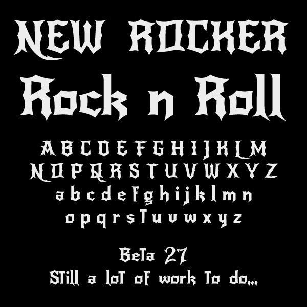 Image for NewRocker font