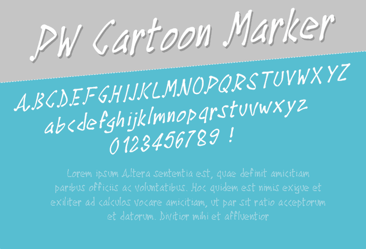 Image for PWCartoonMarker font