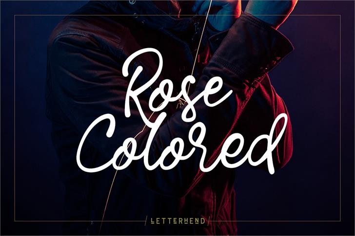Rose Colored font by Letterhend Studio