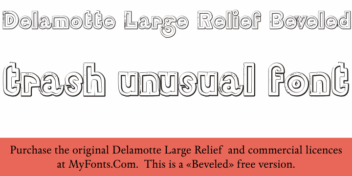 Image for DelamotteLargeRelief Beveled font