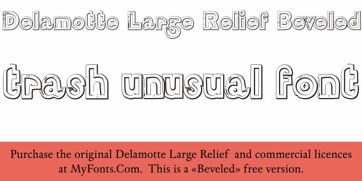 DelamotteLargeRelief Beveled font by Intellecta Design