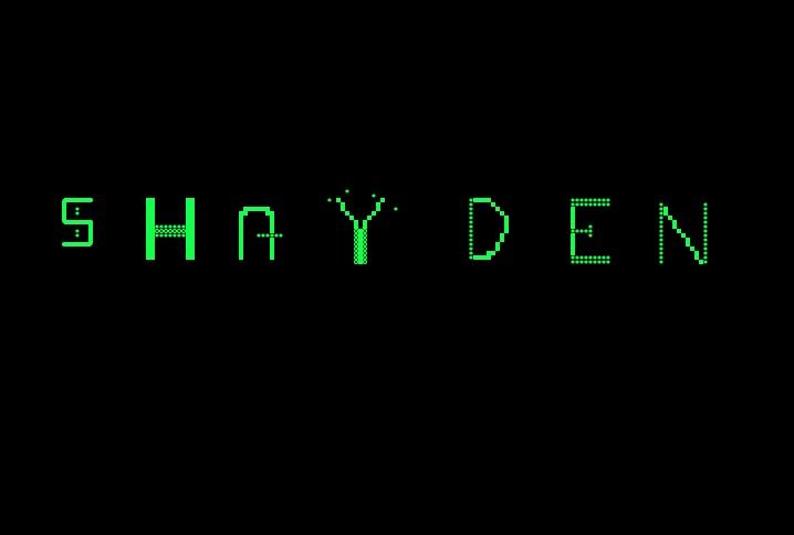 Shayden font by RidiculousRed Rampage