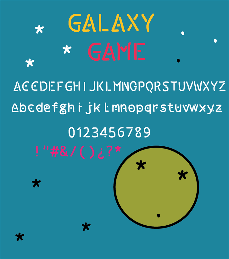 Image for galaxy game font