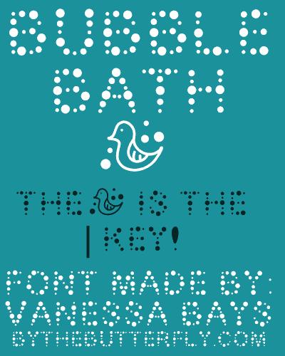 Bubble Bath font by ByTheButterfly