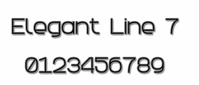 Image for Elegant Line 7 font