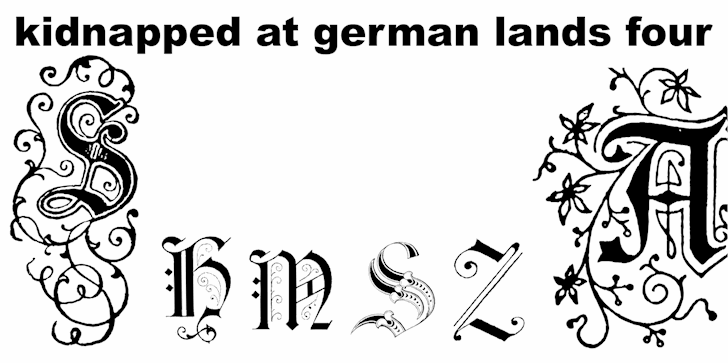 Image for Kidnapped at German Lands Four font