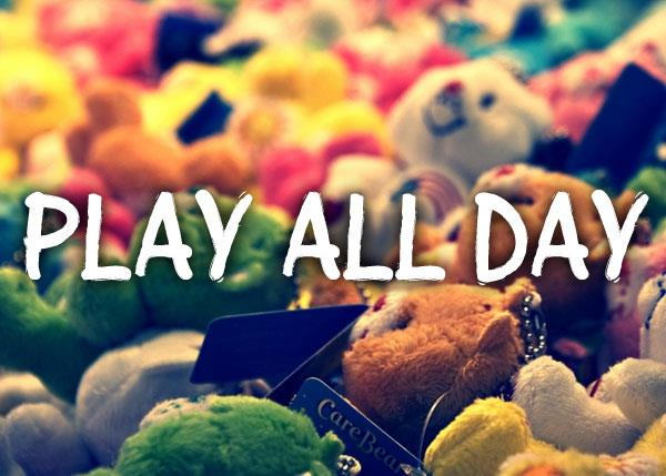 Play all day font by Chris Vile
