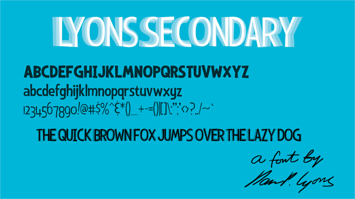 Image for Lyons Secondary font