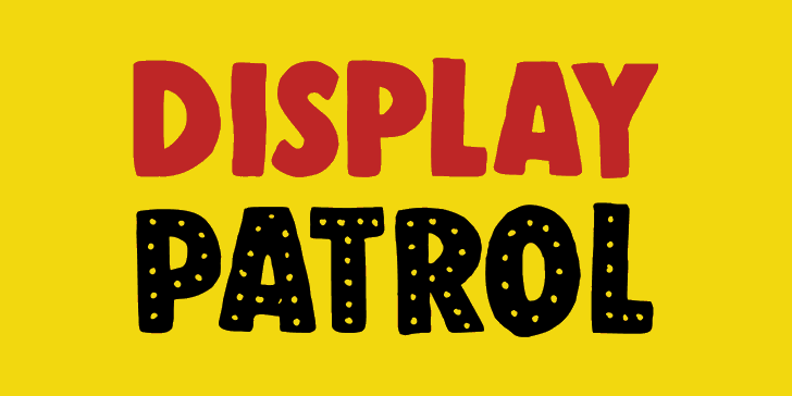 Image for DK Display Patrol font