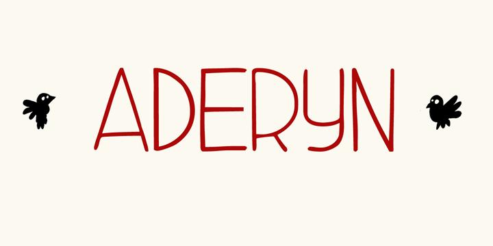 Image for DK Aderyn font