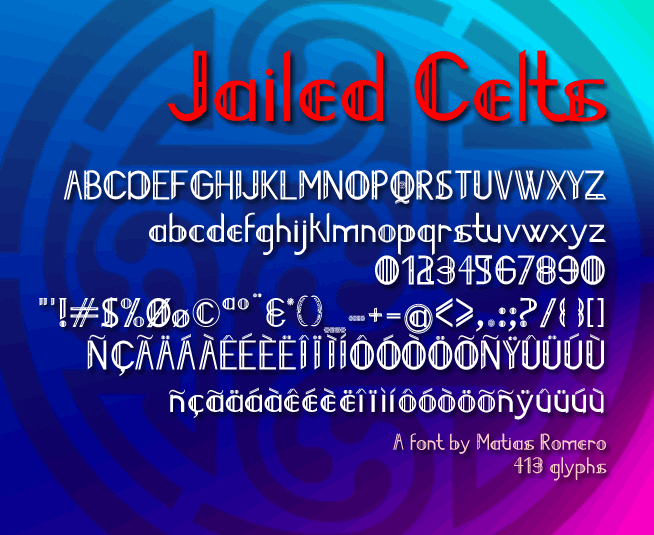 Image for Jailed Celts font