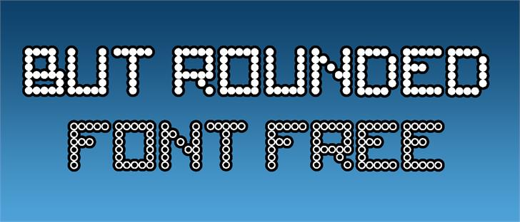 But Rounded font by TFonts1
