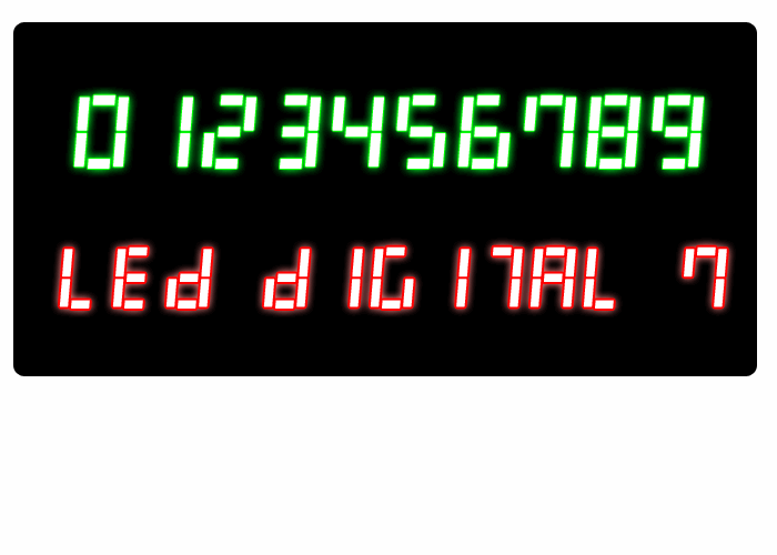 Image for LED Digital 7 font