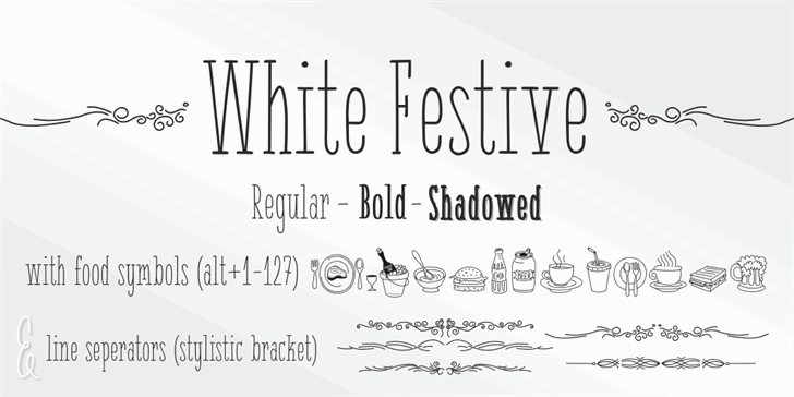Image for { White Festive } font