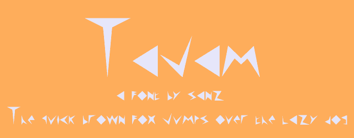 Tajam font by 'Sanz Fonts