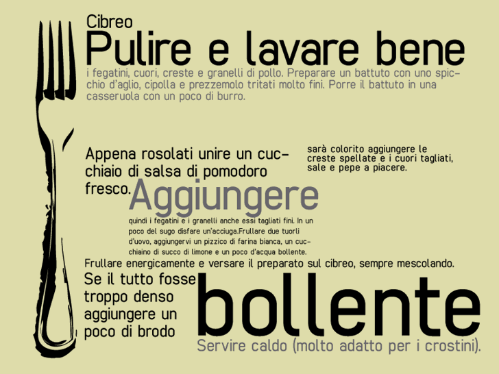 Image for cibreo font