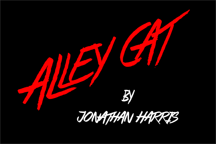Alley Cat font by Jonathan S. Harris