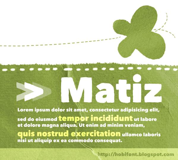 Image for Matiz font