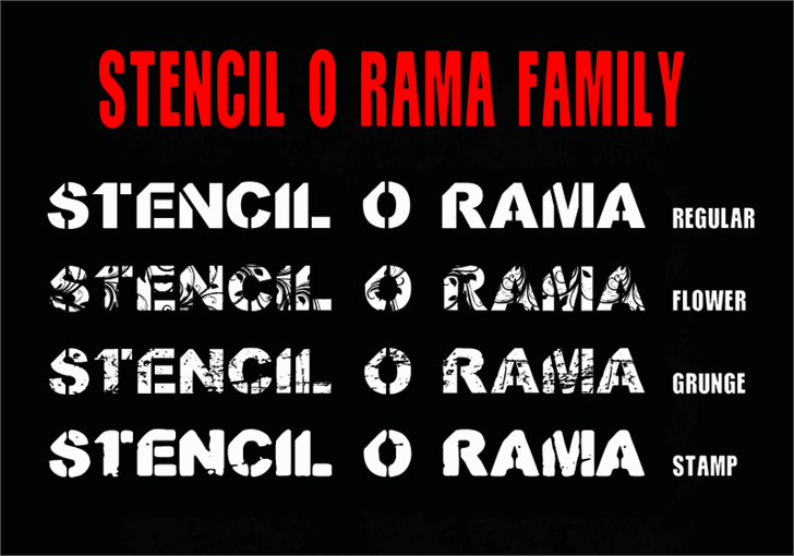 Image for CF Stencil O Rama Stamp font