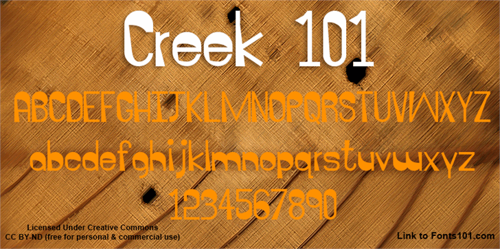 Image for Creek 101 font