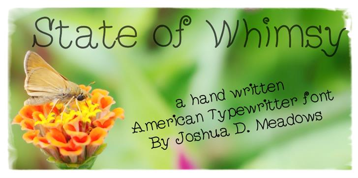 StateOfWhimsy font by JoshuaMeadows