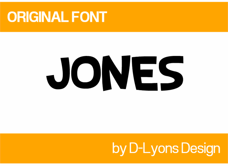 Image for Jones font