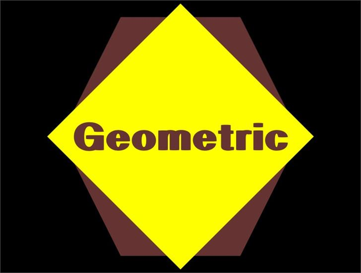 Image for Geometric font