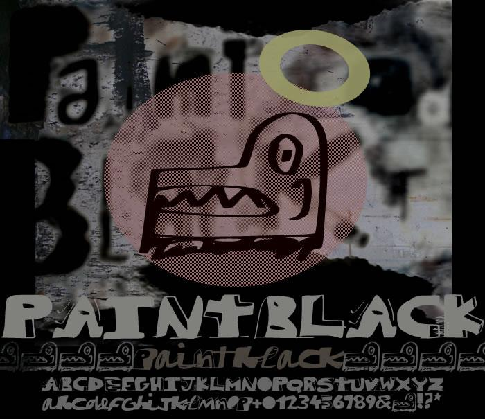 paintblack font by paintblack éditions