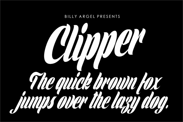 Clipper Personal Use font by Billy Argel