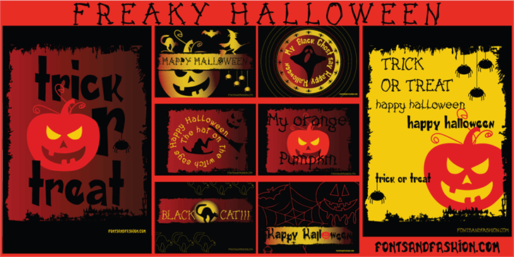 FREAKY HALLOWEEN font by Fontsandfashion