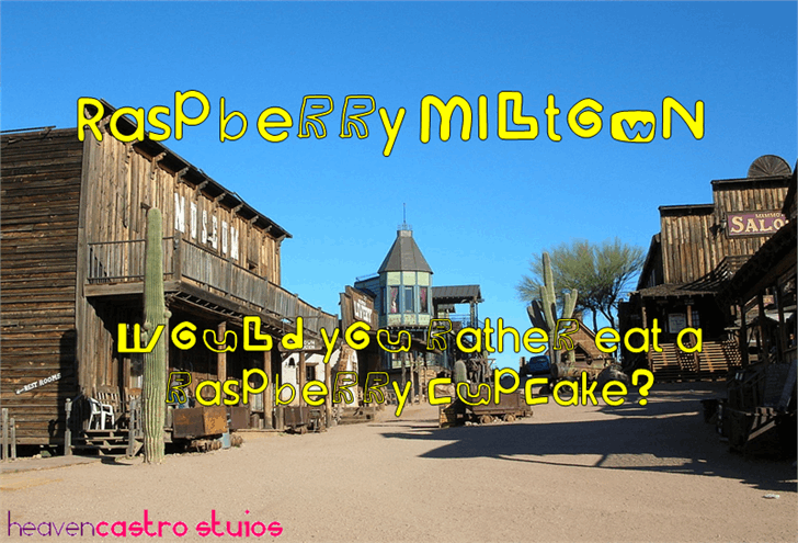Image for Raspberry Miltown font