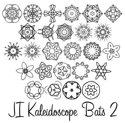 Image for JI Kaleidoscope Bats 2 font