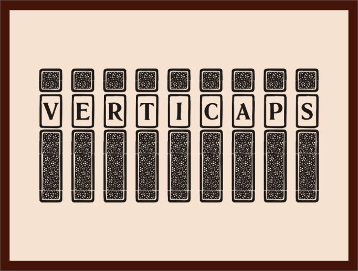 Image for VertiCaps font