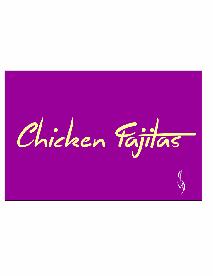 Chicken Fajitas font by Jonathan S. Harris
