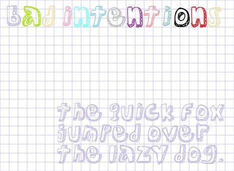 Image for BadIntentions font