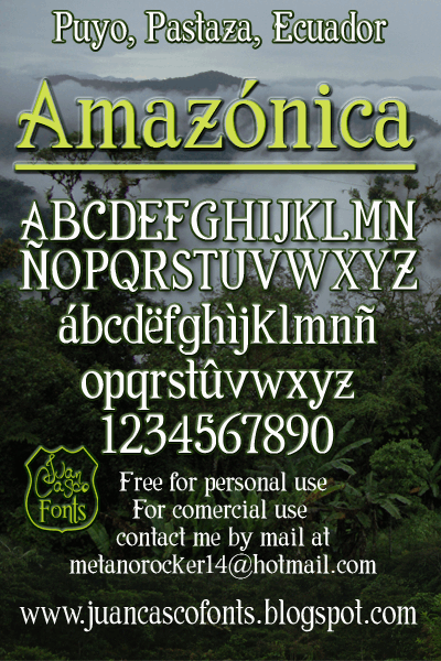 Image for Amazónica font