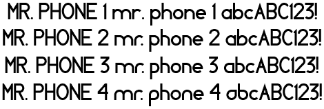 Image for MR. PHONE font