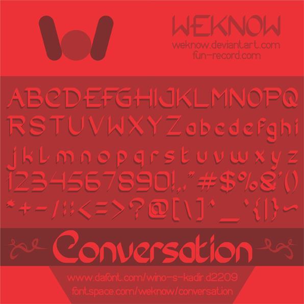 Image for Conversation font