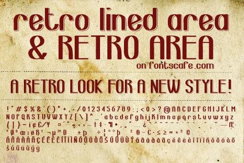 Image for retro lined area_demo-version font