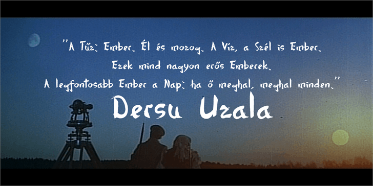 Dersu Uzala brush font by Roland Huse Design