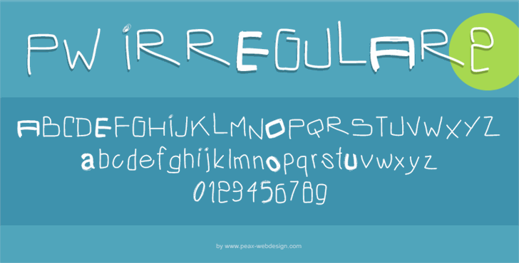 Image for PWIrregular2 font