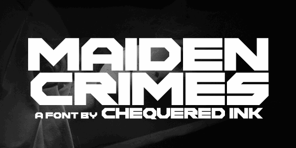 Maiden Crimes font by Chequered Ink