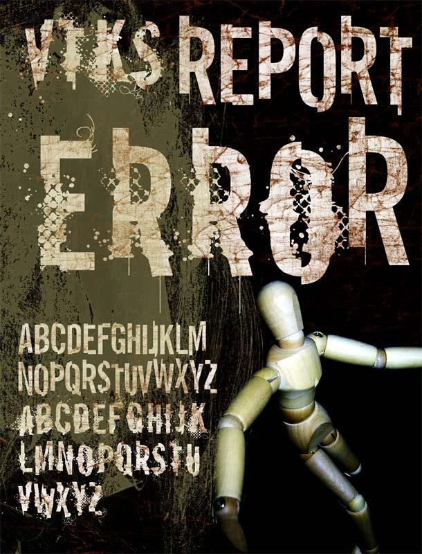 Image for vtks REPORT erRoR font